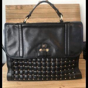 Rebecca Minkoff Studded satchel Black Gold